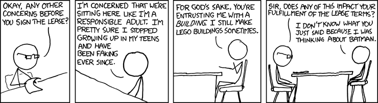 Getting a lease - copyright XKCD